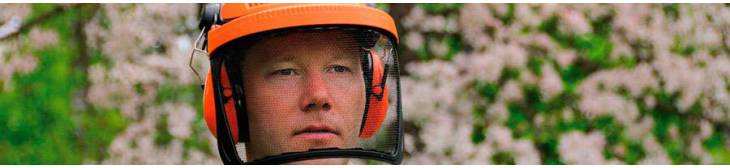 Mesh visor helps protect from flying debris and particles