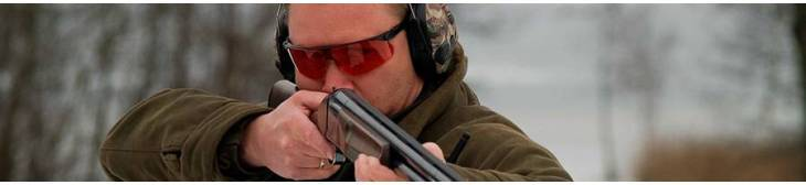 Glasses for shooting and hunting, protect against high-velocity impact