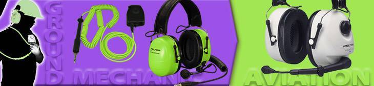 Communication headsets for Pilot/Copilot and airport ground mechanics