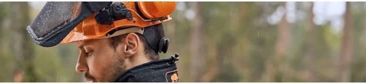 Combinaciones de casco, protección auricular y pantalla